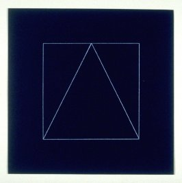 """Untitled, pl. 11, from the portfolio, """"All double combinations (superimposed) of six geometric figures (circle square, triangle, rectangle, trapezoid and parallelogram)"""""""