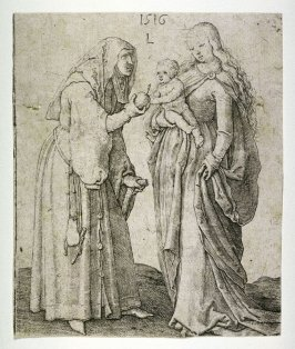 Virgin and Child with Saint Anne offering an Apple