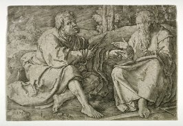 St. Peter and St. Paul in discussion in the desert