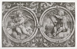 Circular Ornaments with Cupids