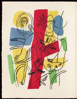 Frontispiece in the book Cirque (Circus) by Fernand Léger (Paris: Tériade Editeur, 1950).