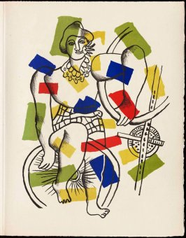 Untitled, pg. 7, in the book Cirque (Circus) by Fernand Léger (Paris: Tériade Editeur, 1950).
