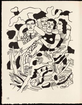 Untitled, pg. 12, in the book Cirque (Circus) by Fernand Léger (Paris: Tériade Editeur, 1950).