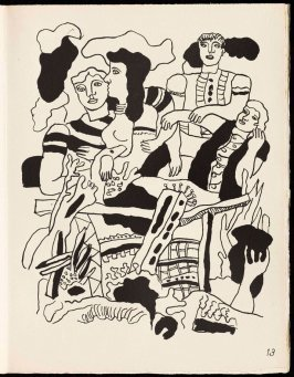 Untitled, pg. 13, in the book Cirque (Circus) by Fernand Léger (Paris: Tériade Editeur, 1950).