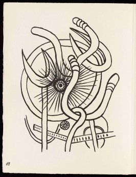 Untitled, pg. 18, in the book Cirque (Circus) by Fernand Léger (Paris: Tériade Editeur, 1950).