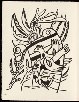Untitled, pg. 20, in the book Cirque (Circus) by Fernand Léger (Paris: Tériade Editeur, 1950).