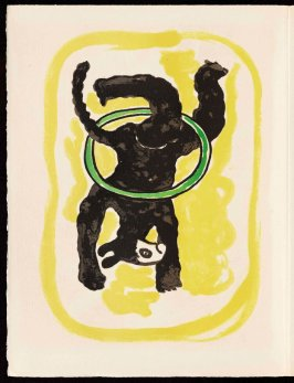 Untitled, pg. 26, in the book Cirque (Circus) by Fernand Léger (Paris: Tériade Editeur, 1950).