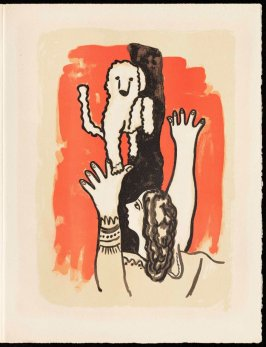 Untitled, pg. 31, in the book Cirque (Circus) by Fernand Léger (Paris: Tériade Editeur, 1950).