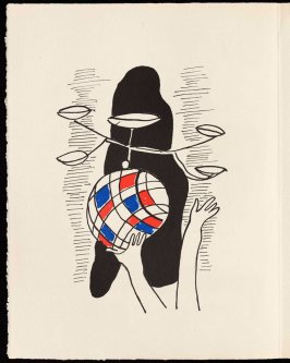 Untitled, pg. 34, in the book Cirque (Circus) by Fernand Léger (Paris: Tériade Editeur, 1950).