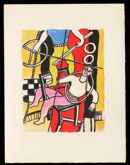 Untitled, pg. 49, in the book Cirque (Circus) by Fernand Léger (Paris: Tériade Editeur, 1950).