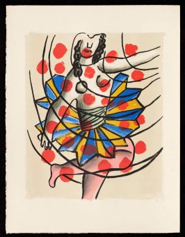 Untitled, pg. 56, in the book Cirque (Circus) by Fernand Léger (Paris: Tériade Editeur, 1950).