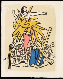 Untitled, pg. 60, in the book Cirque (Circus) by Fernand Léger (Paris: Tériade Editeur, 1950).