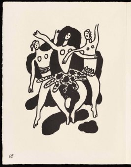 Untitled, pg. 62, in the book Cirque (Circus) by Fernand Léger (Paris: Tériade Editeur, 1950).