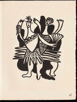 Untitled, pg. 63, in the book Cirque (Circus) by Fernand Léger (Paris: Tériade Editeur, 1950).