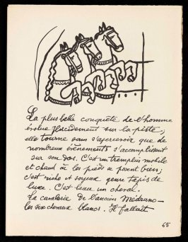 Untitled, pg. 65, in the book Cirque (Circus) by Fernand Léger (Paris: Tériade Editeur, 1950).