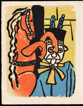 Untitled, pg. 68, in the book Cirque (Circus) by Fernand Léger (Paris: Tériade Editeur, 1950).