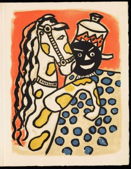 Untitled, pg. 69, in the book Cirque (Circus) by Fernand Léger (Paris: Tériade Editeur, 1950).