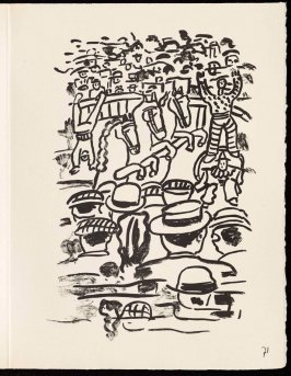 Untitled, pg. 71, in the book Cirque (Circus) by Fernand Léger (Paris: Tériade Editeur, 1950).