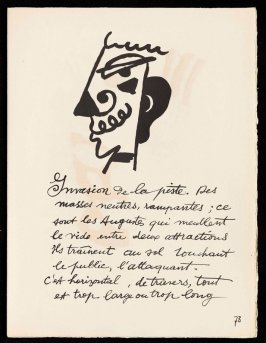 Untitled, pg. 73, in the book Cirque (Circus) by Fernand Léger (Paris: Tériade Editeur, 1950).