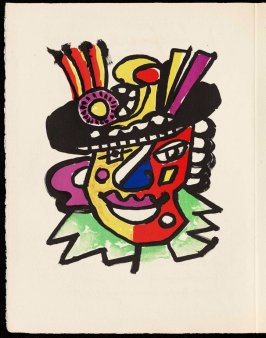 Untitled, pg. 74, in the book Cirque (Circus) by Fernand Léger (Paris: Tériade Editeur, 1950).
