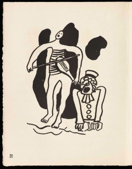 Untitled, pg. 80, in the book Cirque (Circus) by Fernand Léger (Paris: Tériade Editeur, 1950).