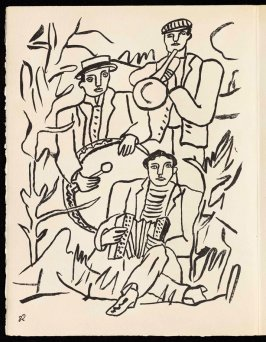 Untitled, pg. 82, in the book Cirque (Circus) by Fernand Léger (Paris: Tériade Editeur, 1950).
