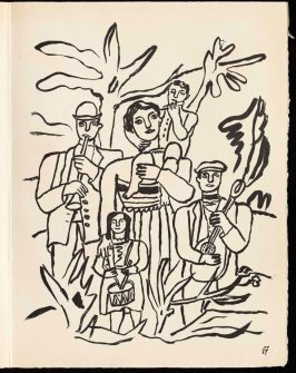 Untitled, pg. 87, in the book Cirque (Circus) by Fernand Léger (Paris: Tériade Editeur, 1950).