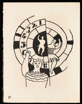 Untitled, pg. 88, in the book Cirque (Circus) by Fernand Léger (Paris: Tériade Editeur, 1950).