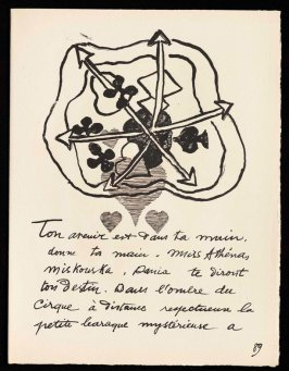 Untitled, pg. 89, in the book Cirque (Circus) by Fernand Léger (Paris: Tériade Editeur, 1950).