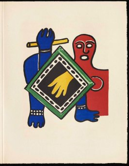 Untitled, pg. 95, in the book Cirque (Circus) by Fernand Léger (Paris: Tériade Editeur, 1950).
