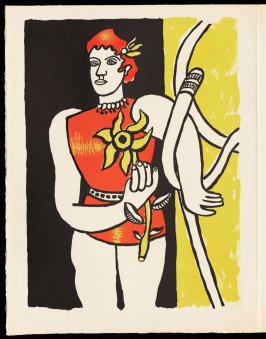 Untitled, pg. 98, in the book Cirque (Circus) by Fernand Léger (Paris: Tériade Editeur, 1950).