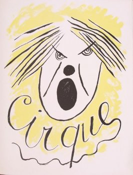 Front cover for the book Cirque (Circus) by Fernand Léger (Paris: Tériade Editeur, 1950).