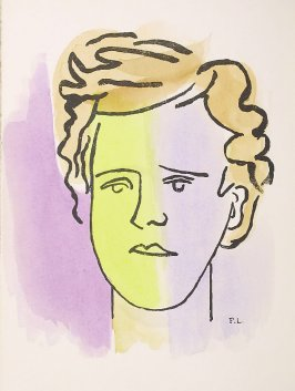 """Portrait de Rimbaud,"" frontispiece, in the book Les Illuminations by Arthur Rimbaud (Lausanne: Grosclaude, Éditions des Gaules, 1949)."