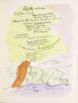 """Est-elle aimée?,"" pg. 45, in the book Les Illuminations by Arthur Rimbaud (Lausanne: Grosclaude, Éditions des Gaules, 1949)."