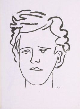 """Portrait de Rimbaud,"" suite 1, bound at the back of the book Les Illuminations by Arthur Rimbaud (Lausanne: Grosclaude, Éditions des Gaules, 1949)."