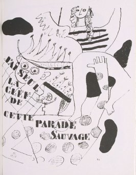 """Parade,"" suite 1, bound at the back of the book Les Illuminations by Arthur Rimbaud (Lausanne: Grosclaude, Éditions des Gaules, 1949)."