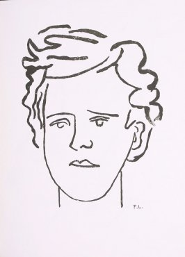 """Portrait de Rimbaud,"" suite 2, bound at the back of the book Les Illuminations by Arthur Rimbaud (Lausanne: Grosclaude, Éditions des Gaules, 1949)."