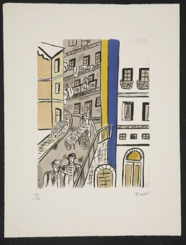 La rue, plate 5 in the portfolio La ville (Paris: Tériade, 1959)