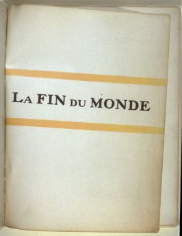 1st illustration in the book La fin du monde, filmée par l'ange N.D. by Blaise Cendrars (Paris: Editions de la Sirène, 1919)