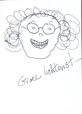 Grace Lichtenstein (Self-portrait), Illustration 19 in the book Sketchbook (Sun Valley, Idaho)
