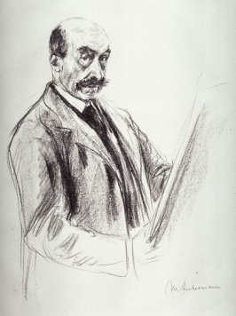 Large Self-Portrait, standing and sketching