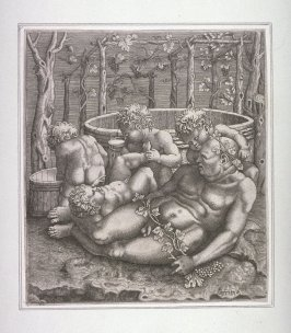 Bacchus with four children