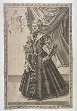 Portrait of Maria of Austria, Queen of Bohemia, daughter of Charles V