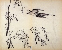 Two Flying Swallows, No.3 from the Volume on Birds - from: The Treatise on Calligraphy and Painting of the Ten Bamboo Studio