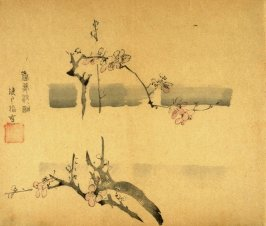 Plum Branches in Mist, No.13 from the Volume on Plums - from: The Treatise on Calligraphy and Painting of the Ten Bamboo Studio