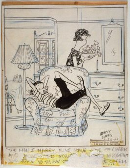 """The man I marry must have lots of charm..."", for the syndicated cartoon series Emmy Lou"