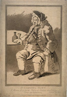 Mr. Gabriel Hunt. A Member of Hogarth's Club at the Bedford Arms Tavern
