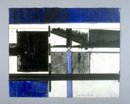 Untitled, third of four studies for the painting, Black Tower