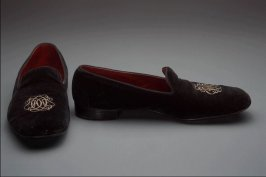 Pair of man's evening shoes or slippers