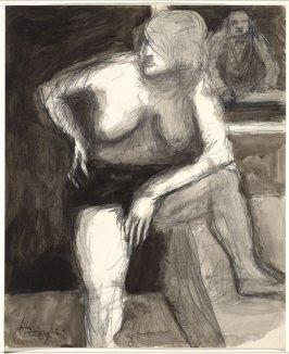 Untitled (Elmer Bischoff Drawing from a Model)
